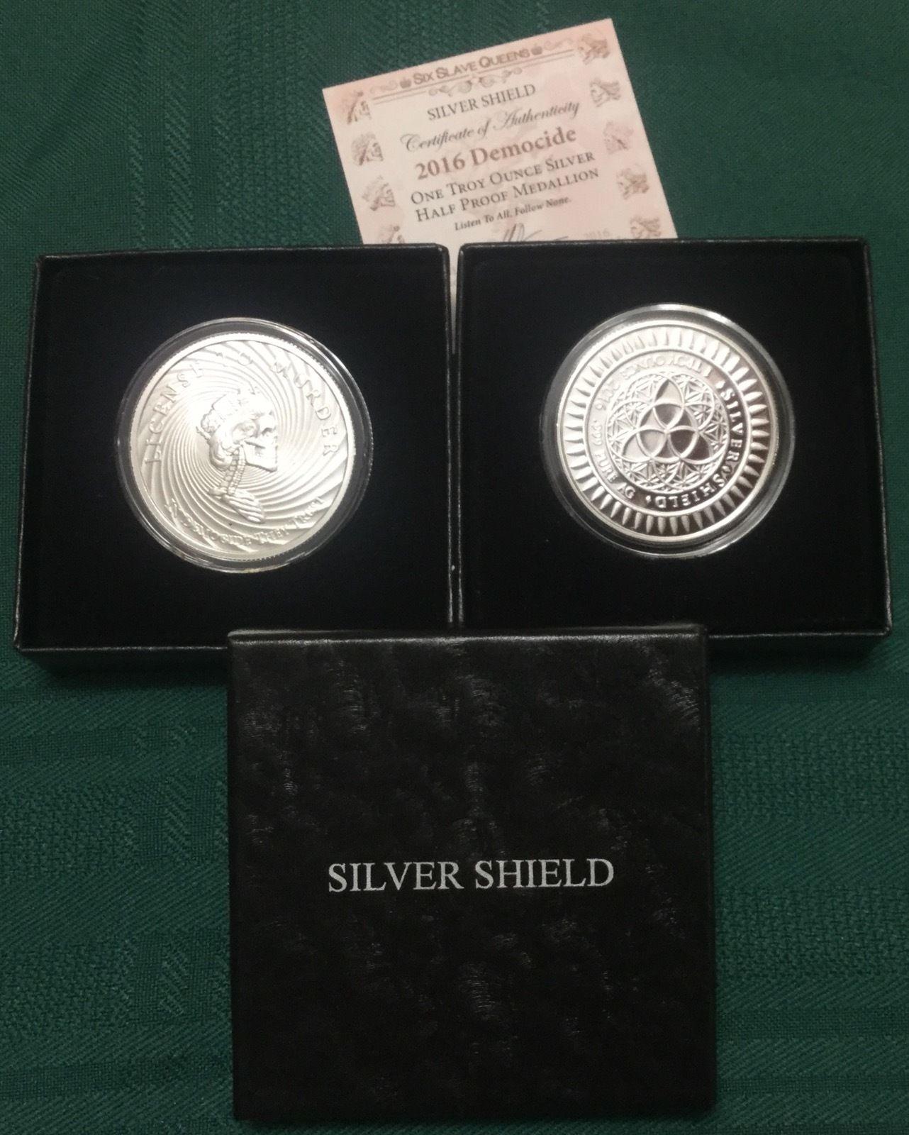 Slave Queen  Bride .999 fine  Silver Shield  BU  Round W//Coa